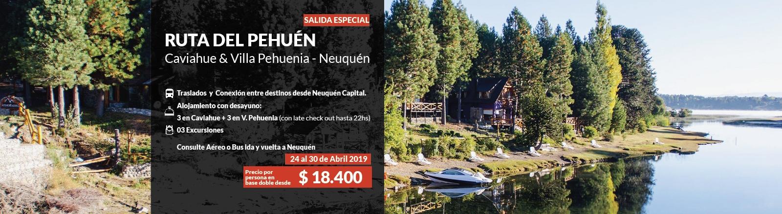 Ruta del Pehuen Villa Pehuenia & Caviahue- especial abril
