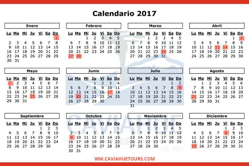 PARA ORGANIZAR EL AÑO: Feriados  2017